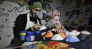 جوانان فلسطینی برای تشویق مردم غزه