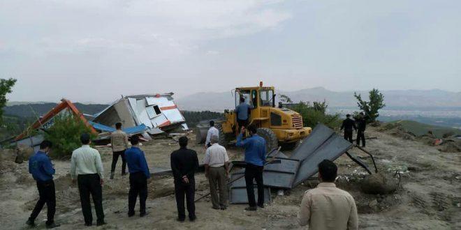 ساخت و ساز غیر مجاز در محله سوهانک