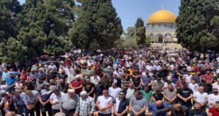 نماز جمعه ماه رمضان را در مسجدالاقصی